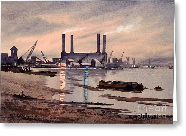 Famous Bridge Greeting Cards - River Thames At Battersea Greeting Card by Bill Holkham