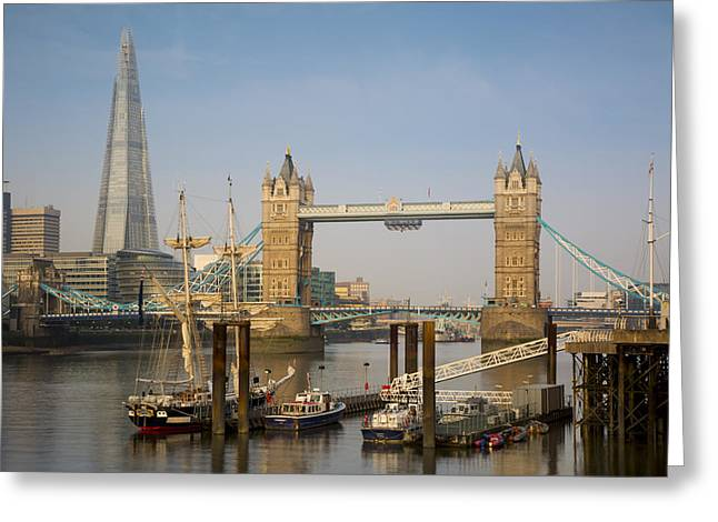New Britain Greeting Cards - River Thames Morning Greeting Card by Brian Jannsen