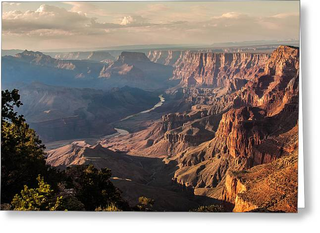 River View Greeting Cards - River through Grand Canyon Greeting Card by Kathleen McGinley