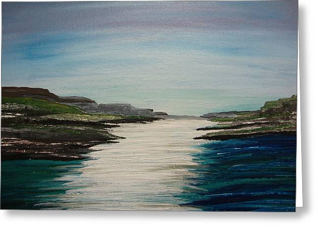 Seacape Greeting Cards - River Trail Greeting Card by Robin  Allport