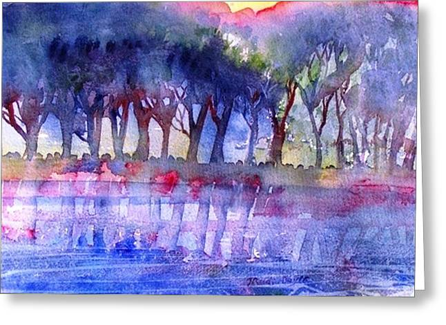 River Trees  Greeting Card by Trudi Doyle