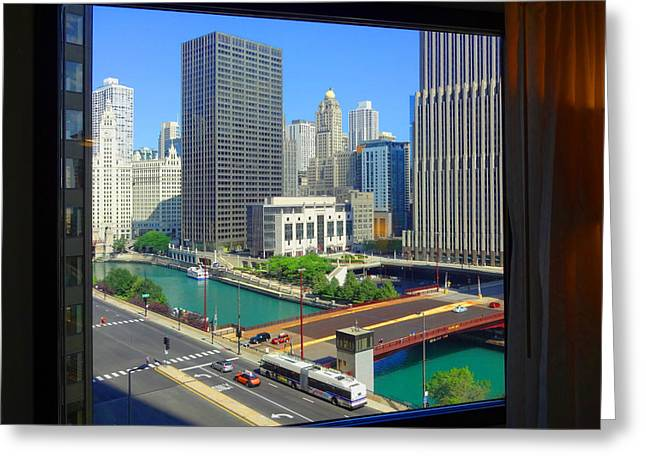 Room With A River View Greeting Card by Donna Spadola