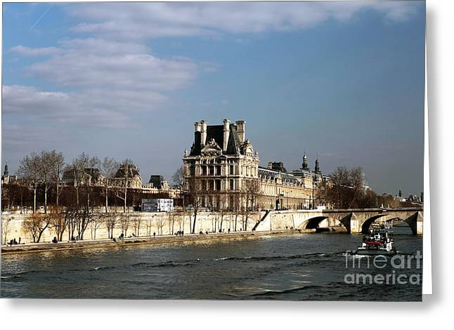 River View Photographs Greeting Cards - River View in Paris Greeting Card by John Rizzuto