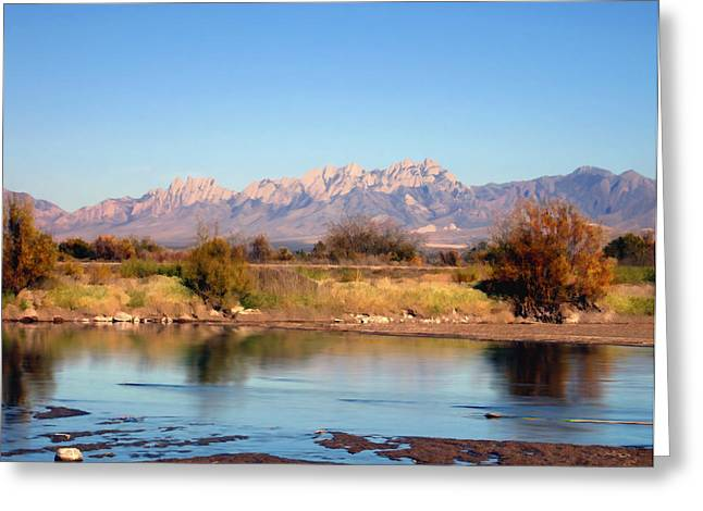 Las Cruces Landscape Greeting Cards - River view Mesilla Greeting Card by Kurt Van Wagner
