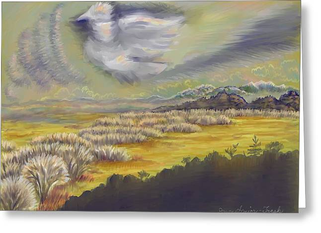 Formation Pastels Greeting Cards - River View Sunrise on my Morning Walk Greeting Card by Dawn Senior-Trask