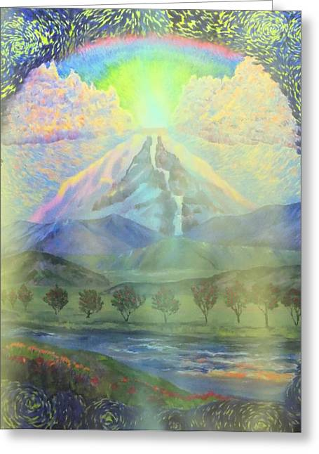 Messianic Art Greeting Cards - River Vision I Greeting Card by Anastasia  Ealy