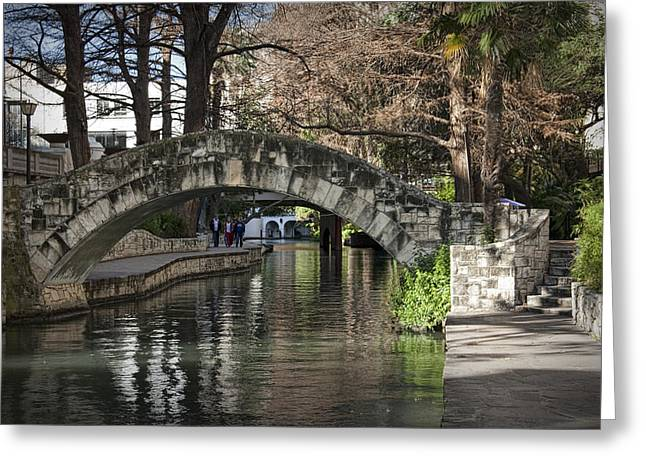 River Walk In San Antonio Texas No. 0279 Greeting Card by Randall Nyhof