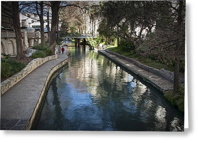 River Walk In San Antonio Texas No. 0281 Greeting Card by Randall Nyhof