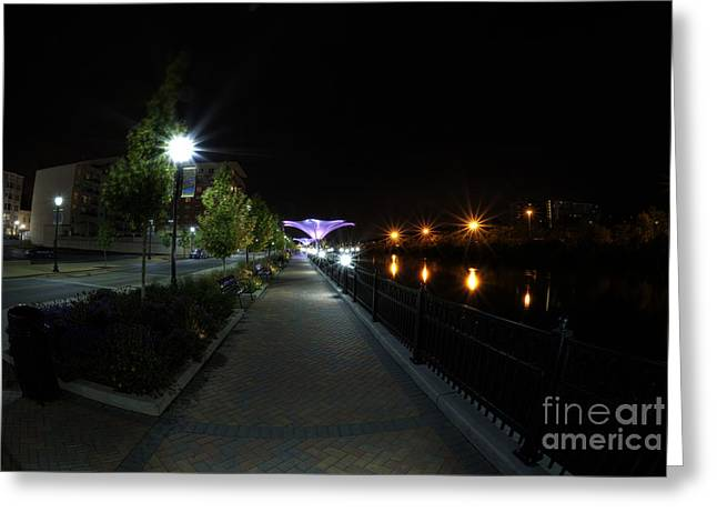 Fox River Greeting Cards - River Walk on the Fox Greeting Card by David Bearden