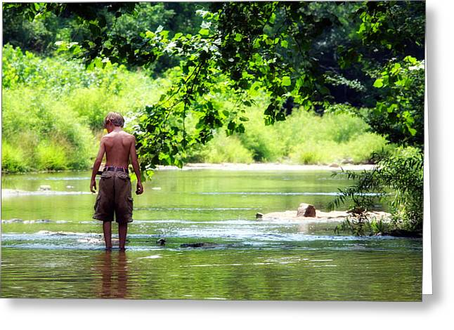 Little Harpeth River Greeting Cards - River Walk Greeting Card by Tamara Gentuso