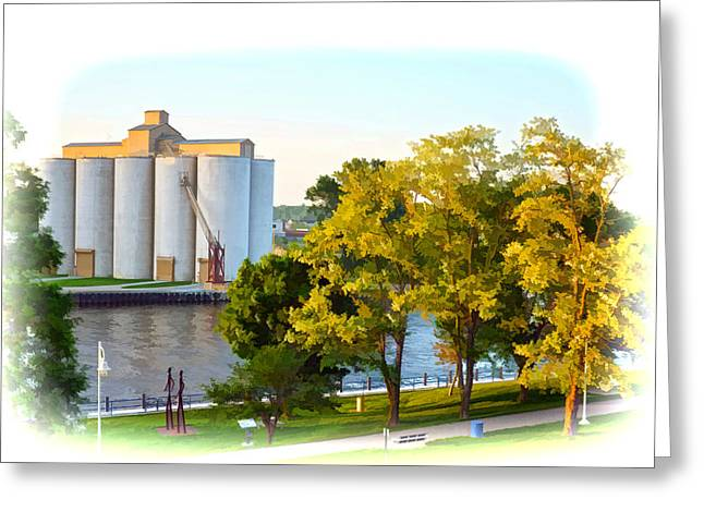 Silber Greeting Cards - River Walk Vignette Greeting Card by Rick Jackson