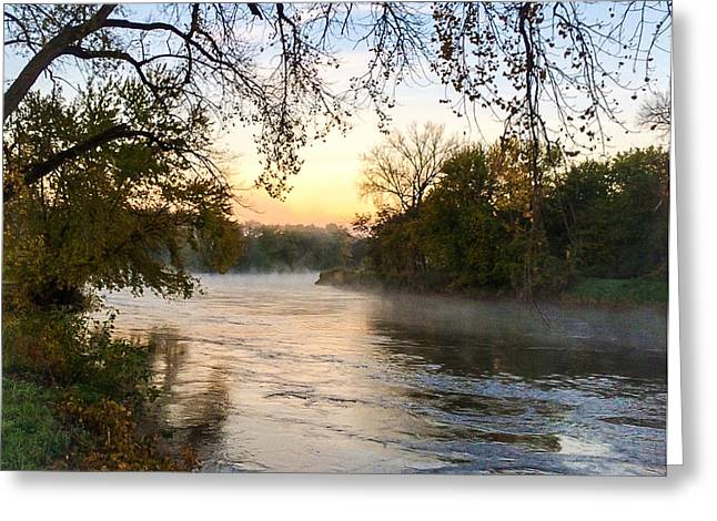 Overhang Greeting Cards - River Waltz Greeting Card by Amanda Royce