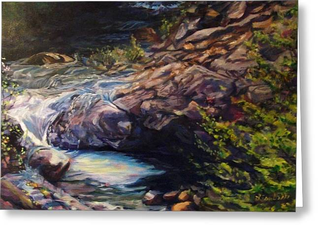 Calistoga Greeting Cards - Napa River Rapids Greeting Card by Art By Lisabelle