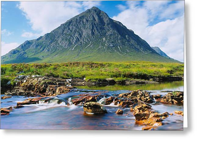Rannoch Moor Greeting Cards - River With A Mountain Greeting Card by Panoramic Images