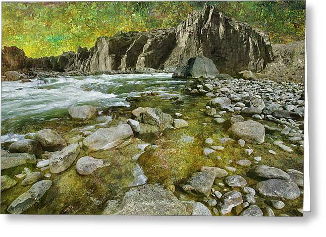 Stream Digital Art Greeting Cards - River2 Greeting Card by Jeff Burgess