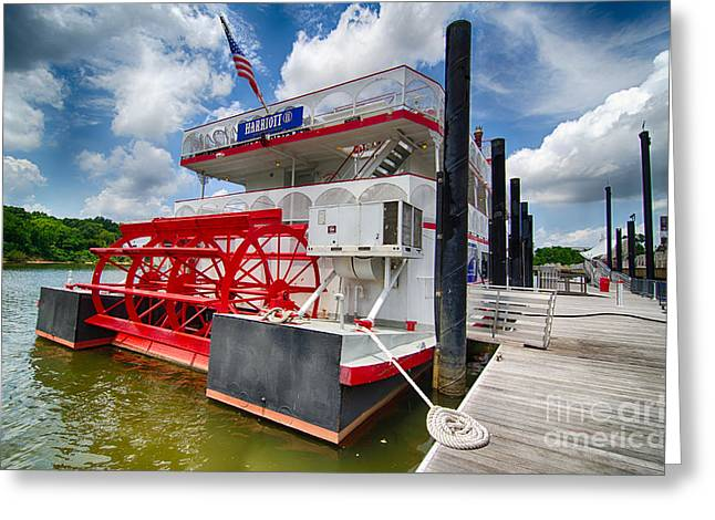Wooden Ship Greeting Cards - Riverboat at Montgomery Alabama Greeting Card by Danny Hooks