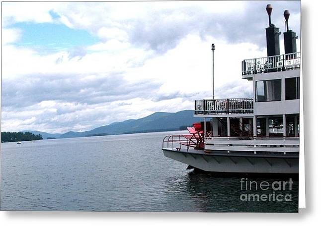 Water Vessels Greeting Cards - Riverboat Paddle Wheeler Ride Greeting Card by Gail Matthews