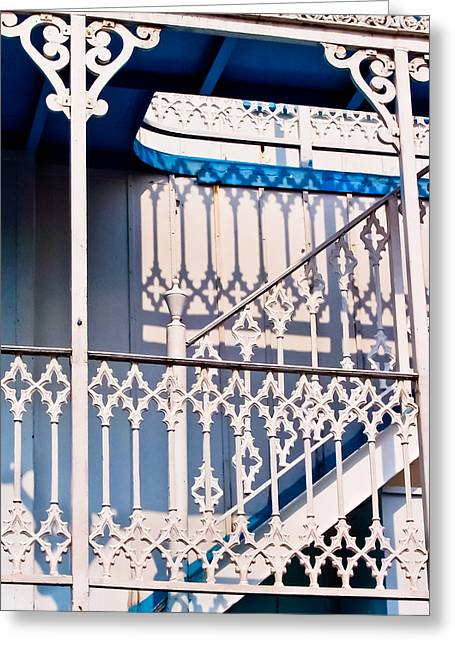 Mississippi Photographs Greeting Cards - Riverboat Railings Greeting Card by Christi Kraft