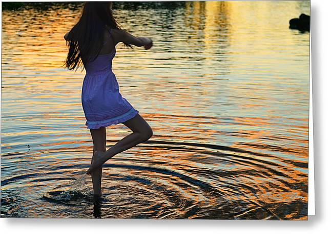 Dancer Photographs Greeting Cards - Riverdance Greeting Card by Laura  Fasulo