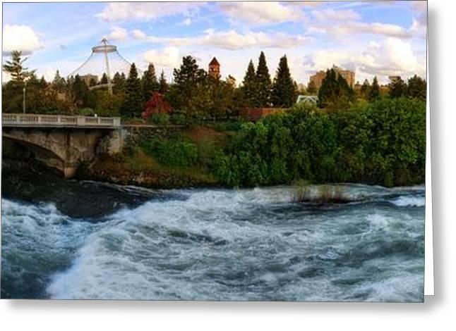 Spokane Greeting Cards - Riverflow Greeting Card by Dan Quam