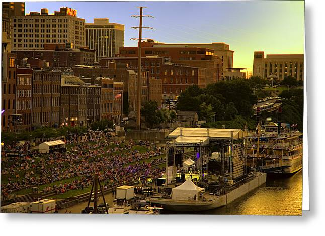 Riverfront Concert Greeting Card by Diana Powell