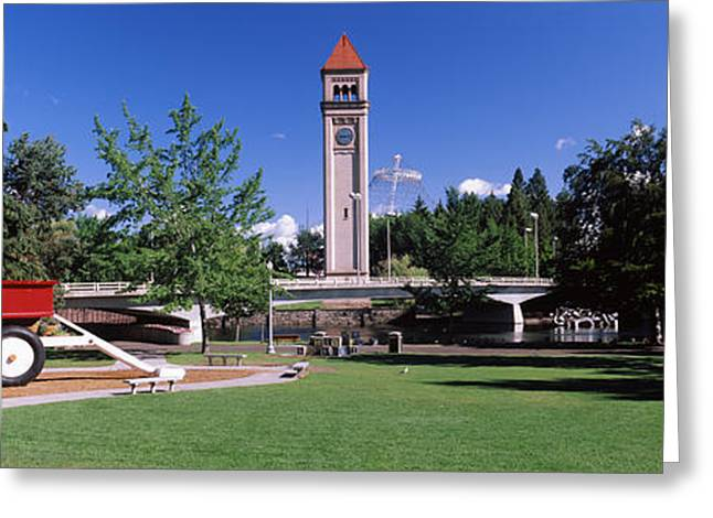 Riverfront Park At Spokane, Washington Greeting Card by Panoramic Images