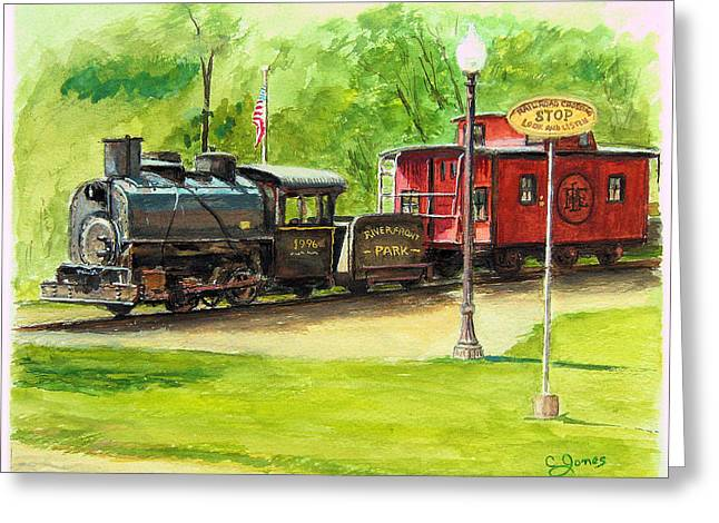 Sewickley . Greeting Cards - Riverfront Park Greeting Card by C Keith Jones