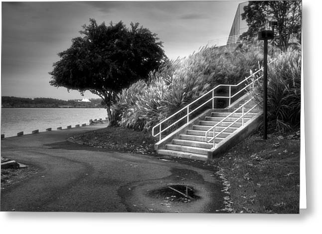 Jogging Greeting Cards - Riverfront Park I Greeting Card by Steven Ainsworth