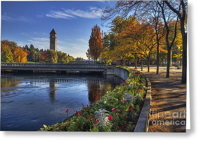 Riverfront Greeting Cards - Riverfront Park - Spokane Greeting Card by Mark Kiver