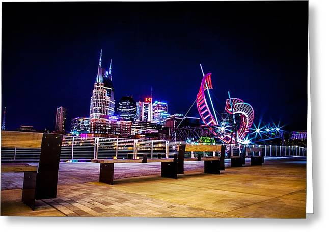 Best Sellers -  - Nashville Tennessee Greeting Cards - Riverfront Vista Greeting Card by Lucas Foley