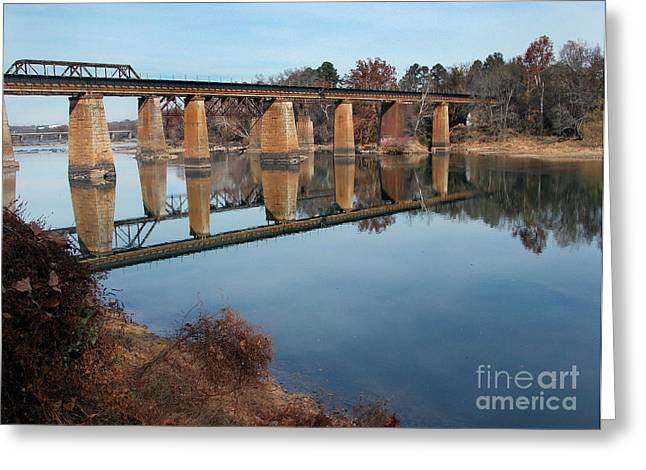 Scenic Tours Greeting Cards - Rivers And Rail Roads Greeting Card by Skip Willits