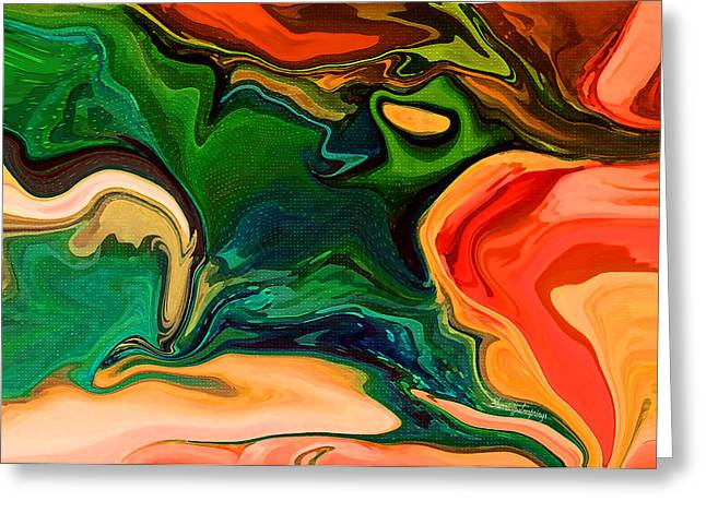 Sherri Painting Greeting Card featuring the digital art Rivers Of Hope by Sherri  Of Palm Springs