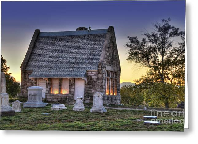 Historic District Greeting Cards - Riverside Cemetery Greeting Card by Juli Scalzi