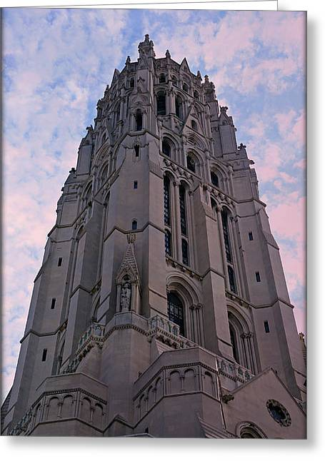 Morningside Heights Greeting Cards - Riverside Church Greeting Card by Stephen Stookey