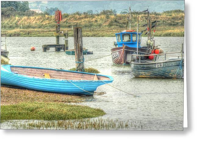 Fishing Prints Greeting Cards - Riverside Greeting Card by Sharon Lisa Clarke