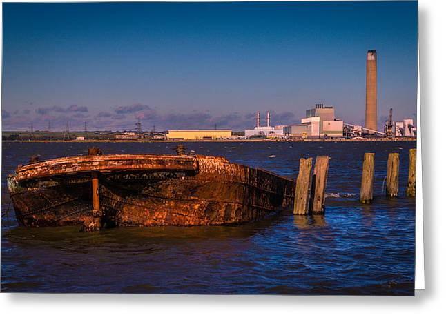 Chatham Greeting Cards - Riverside Wreck Greeting Card by Dawn OConnor