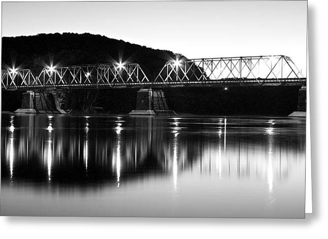 Chiara Greeting Cards - Riverton-Belvidere Bridge Greeting Card by Rocco Chiara