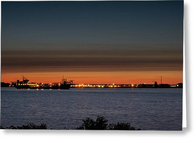 Aperture Greeting Cards - Riverview Sunset Greeting Card by Jason Archie