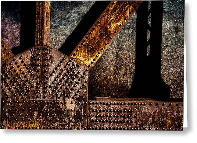 Industrial Greeting Cards - Rivets  Greeting Card by Bob Orsillo