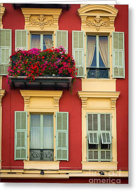 Europa Greeting Cards - Riviera Windows Greeting Card by Inge Johnsson