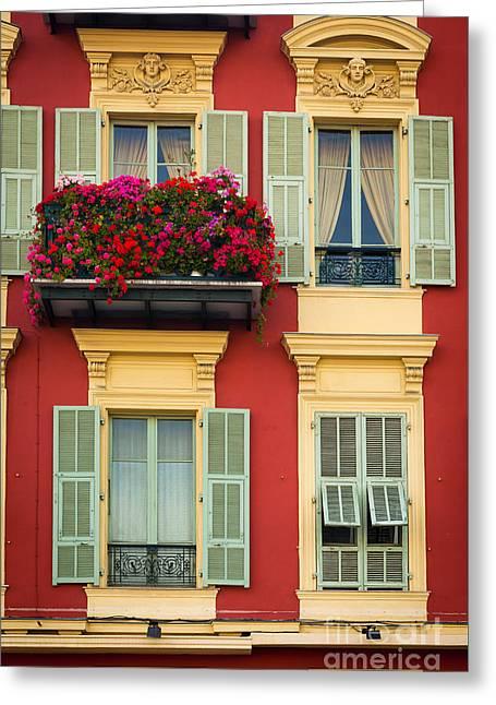 Riviera Windows Greeting Card by Inge Johnsson