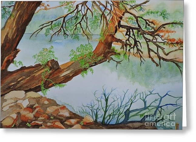 Riviere Paintings Greeting Cards - Riviere Petite Nation  Greeting Card by Lise PICHE