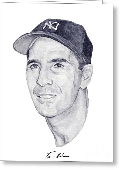Mlb Paintings Greeting Cards - Rizzuto Greeting Card by Tamir Barkan