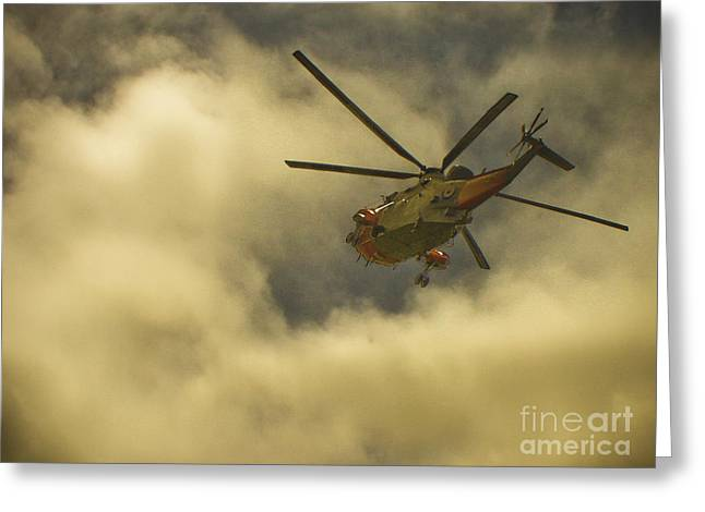 Terri Waters Greeting Cards - RNAS Culdrose Search and Rescue  Greeting Card by Terri  Waters