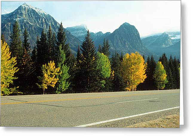 Jasper National Park Greeting Cards - Road Alberta Canada Greeting Card by Panoramic Images