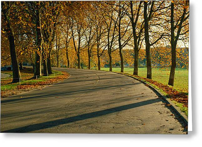Roadway Photographs Greeting Cards - Road At Chateau Chambord France Greeting Card by Panoramic Images