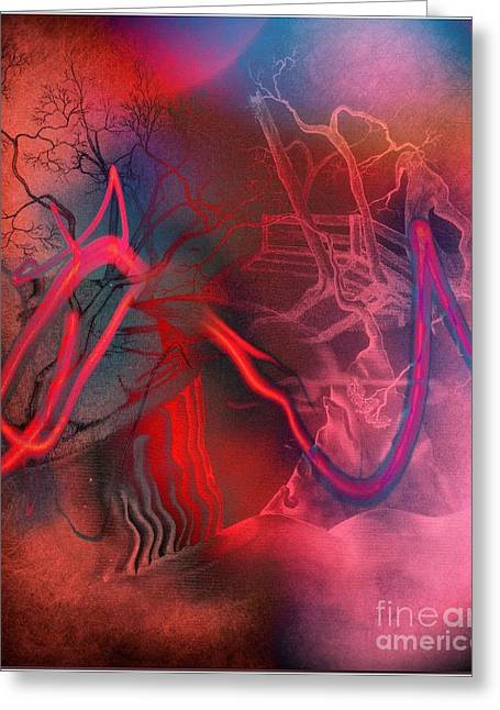 Surrealistic Images Greeting Cards - Road Between Worlds Greeting Card by David Neace