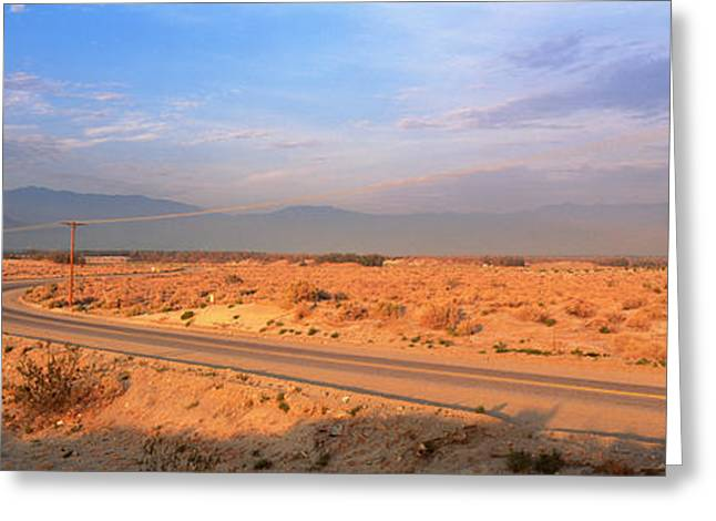 Roadway Greeting Cards - Road Desert Springs Ca Greeting Card by Panoramic Images