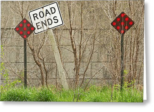 Km Corcoran Greeting Cards - Road Ends Greeting Card by KM Corcoran
