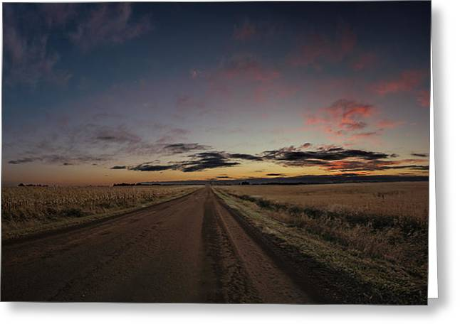 Nowhere Greeting Cards - Road Home Greeting Card by Aaron J Groen